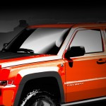 "Mopar Getting Ready for Moab. Chrysler Group LLC's fifth brand is preparing to reveal a truck-load of ""Moparized"" vehicles at the 44th annual Easter Jeep Safari in Moab, Utah which takes place from March 27 through April 4. This sketch shows the Jeep Patriot Extreme: a Sunburst Orange Jeep Patriot model equipped with the Trail-Rated off-road package and added a 2-inch Rocky Road Outfitters suspension lift, TJ ÔMoabÕ 16-inch wheels, and BF Goodrich KM2 tires. ÊAdditional protection is added to the front and rear fascias with custom rock rails. ÊMopar added heavy-duty slush mats, Kicker audio and a roof-mounted snowboard carrier."