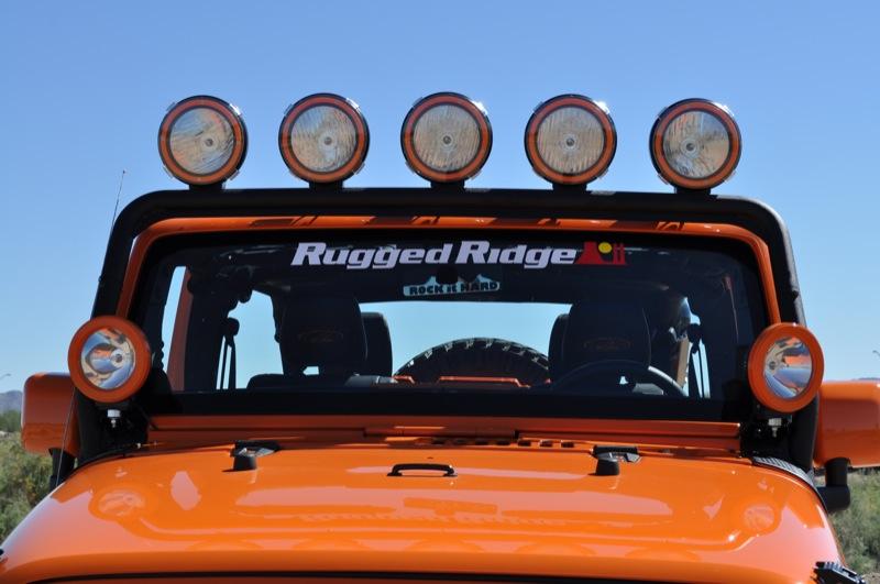 Awesome Rugged Ridge JK Windshield Light Bar