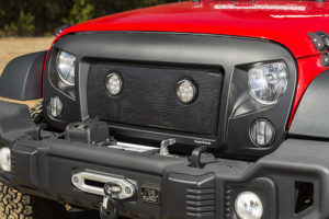 Rugged Ridge's LED Mesh Grille Insert properly and securely position the LED housings for optimum visibility and performance. Photo credit: Rugged Ridge
