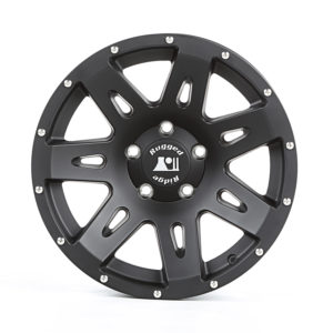Rugged Ridge Euro-spec XHD Aluminum Hub-centric wheels are designed to fit stock tire size without any lift or modifications. Photo credit: Rugged Ridge