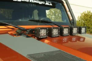The new Rugged Ridge Modular Light Bar allows for numerous lighting and accessory configurations on 07-16 Jeep Wrangler JK models. Photo Credit: Rugged Ridge