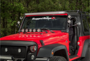Rugged Ridge Elite Fast Track 50-inch Light Bar offers the ability to arrange lights, cameras and accessories in countless configurations with its patented design. Photo Credit: Rugged Ridge