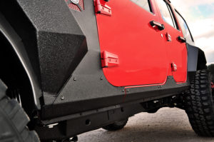 Rugged Ridge Steel Body Armor Cladding adds extra protection and is engineered to fight off rust and corrosion.  Photo Credit: Rugged Ridge