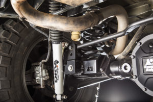 Rugged Ridge Rear Track Bar Relocation Bracket restores proper track bar positioning on lifted JK Wranglers. Photo Credit: Rugged Ridge