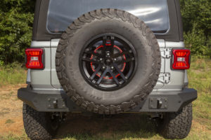 The LED Third Brake Light Ring provides improved positioning for greater visibility, especially on lifted Jeeps.