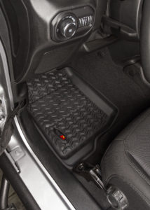 Rugged Ridge's patented All Terrain Floor Liners offer outstanding interior protection for carpet & trim.
